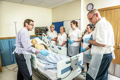 Acute Care And Resuscitation Training Print by Gustoimages