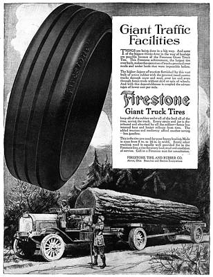 Logging Painting - Ad Firestone, 1918 by Granger