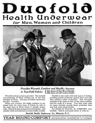 Comfort Painting - Ad Health Underwear, 1919 by Granger