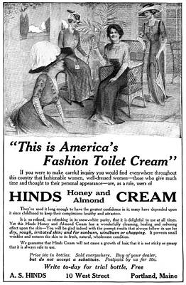 Hind Painting - Ad Hinds Cream, 1911 by Granger