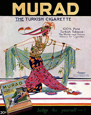 Elaborate Painting - Ad Murad Cigarettes, 1919 by Granger