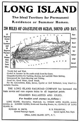 Long Island Drawing - Ad Real Estate, 1901 by Granger