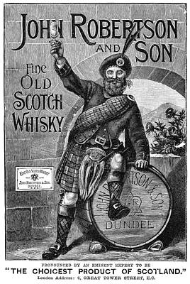 Bagpipes Painting - Ad Scotch Whisky, 1893 by Granger