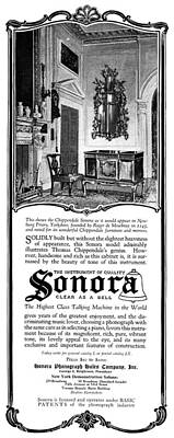 Sonora Painting - Ad Sonora, 1919 by Granger