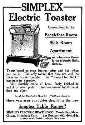 Ad Toaster, 1911 Print by Granger