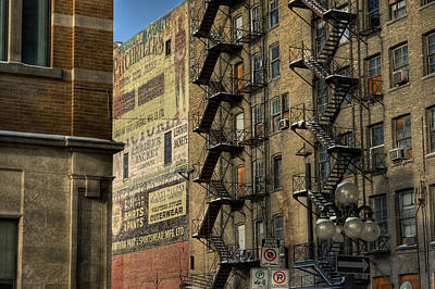 Signage Photograph - Ad Wall by Bryan Scott