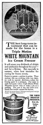 American Food Drawing - Ad White Mountain, 1911 by Granger