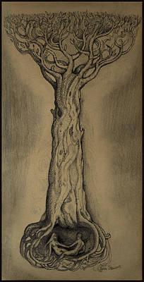 Adam And Eve Original by John Norman Stewart