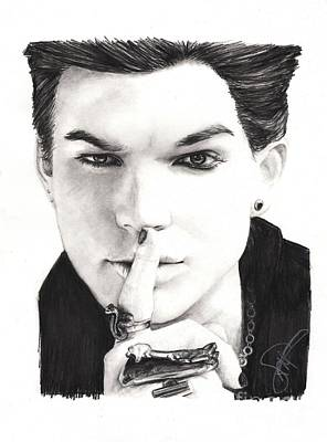 Idol Drawing - Adam Lambert by Rosalinda Markle