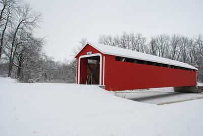 Indiana Winters Photograph - Adams County Indiana Ceylon Bridge by Wanda Jesfield