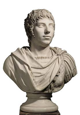 Statue Portrait Photograph - Adan, Juan Antonio 1741-1816. Bust by Everett
