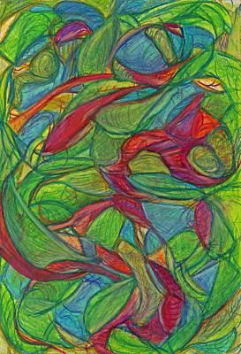 Action Drawing - Adapt Or Perish by Kelly K H B