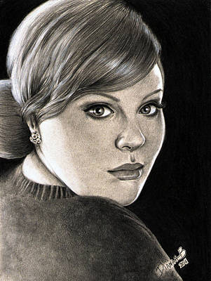 Adele Drawing - Adele - Rolling In The Deep by Dianah B