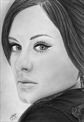 Adele Drawing - Adele 001 by Mandy Boss