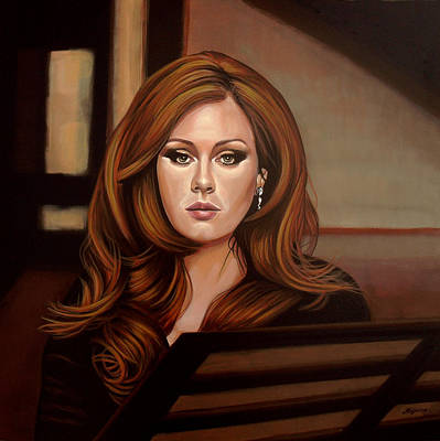 Bands Painting - Adele by Paul Meijering