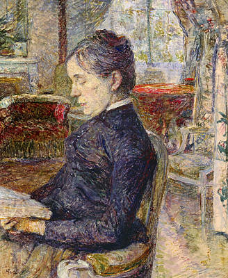Of Artist Photograph - Adele Tapie De Celeyran 1840-1930 Countess Of Toulouse-lautrec-monfa In The Salon Of Chateau De by Henri de Toulouse-Lautrec