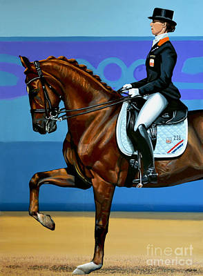 Dressage Painting - Adelinde Cornelissen On Parzival by Paul Meijering
