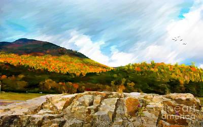 New Art Process Photograph - Adirondack Autumn by Betty LaRue