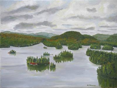 Adirondacks Blue Mountain Lake Original by Robert P Hedden