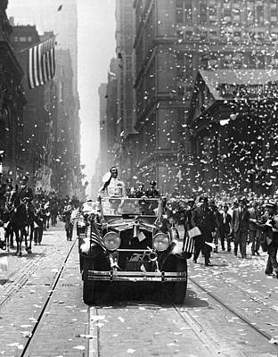 Admiral Byrd Nyc Parade Print by Underwood Archives