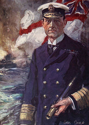 The Great War Painting - Admiral Sir John Jellicoe by Cyrus Cuneo