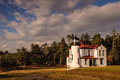 Sunset Photograph - Admiralty Head Lighthouse by Dan Mihai