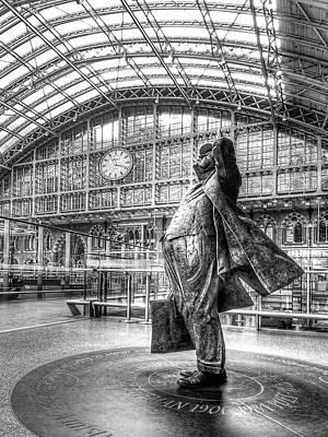 Train Station Photograph - Admiration - Sir John Betjeman At St Pancras Station London by Gill Billington