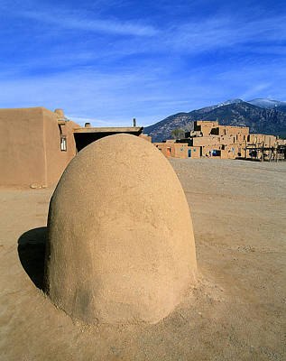 Native American Photograph - Adobe Horno At Taos by Buddy Mays