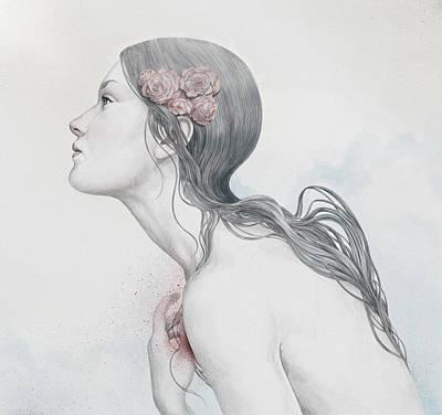 Portraits Digital Art - Adoration by Diego Fernandez