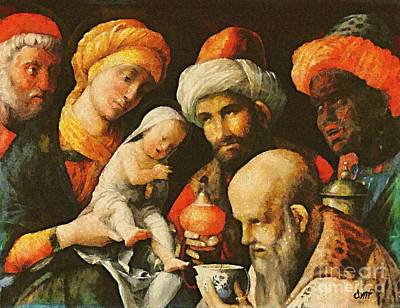 Adoration Of The Magi Print by Dragica  Micki Fortuna