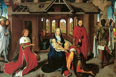 Adoration Of The Magi Print by Hans Memling