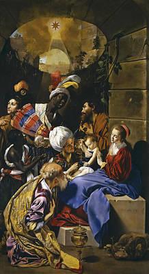 Adoration Magi Painting - Adoration Of The Magi by Juan Bautista Maino