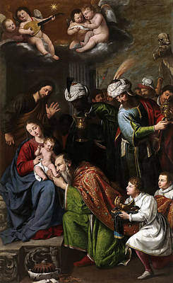 Adoration Magi Painting - Adoration Of The Magi by Pedro Nunez del Valle