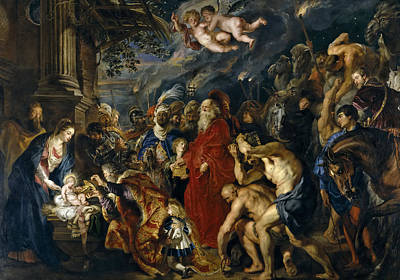 Adoration Magi Painting - Adoration Of The Magi by Peter Paul Rubens
