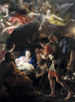 Anton Raphael Mengs Painting - Adoration Of The Shepherds by Anton Raphael Mengs