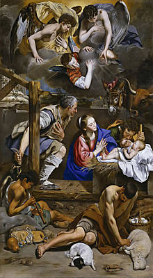 Adoration Of The Shepherds Print by Juan Bautista Maino
