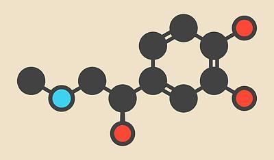 Adrenaline Molecule Print by Molekuul