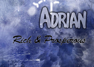 Adrian - Rich And Prosperous Print by Christopher Gaston