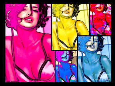 Adriana Lima Pop Art Print by Alan Armstrong