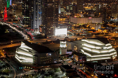 American Airlines Arena Photograph - Adriene Arsht Performing Art Center by Rene Triay Photography