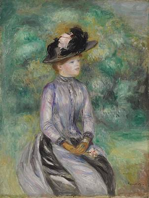 Pierre August Renoir Painting - Adrienne by Celestial Images