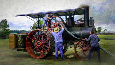 Greyhound Photograph - Advance Steam Traction Engine by F Leblanc