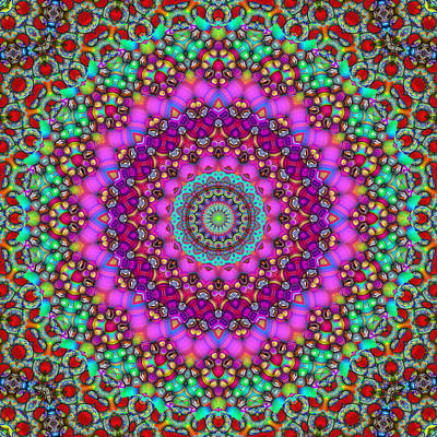 Kaleidoscope Digital Art - Adventures In Persia 3 by Wendy J St Christopher