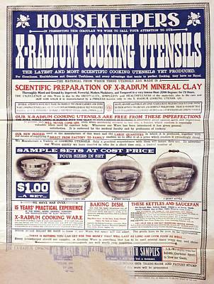 Advert For X-radium Cooking Pots Print by Library Of Congress