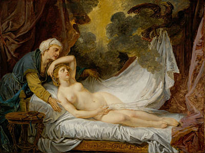 Zeus Painting - Aegina Visited By Jupiter by Jean-Baptiste Greuze