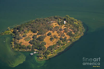 Aerial Anderson Island Print by Cheryl Young
