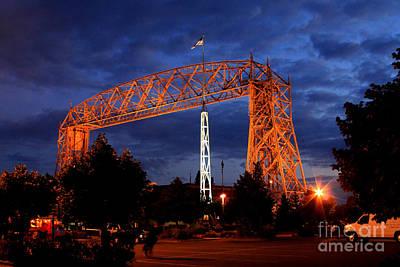 Aerial Lift Bridge Print by Lori Tordsen