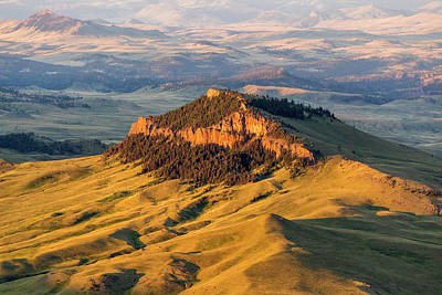 Aerial Of Lionhead Butte In Cascade Print by Chuck Haney