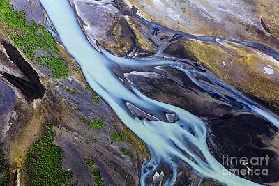 Abstract Photograph - Aerial Photo Of Iceland  by Gunnar Orn Arnason