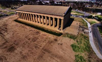 History Of Tennessee Photograph - Aerial Photography Of The Parthenon by Dan Sproul